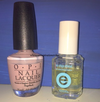 nail polish & top coat